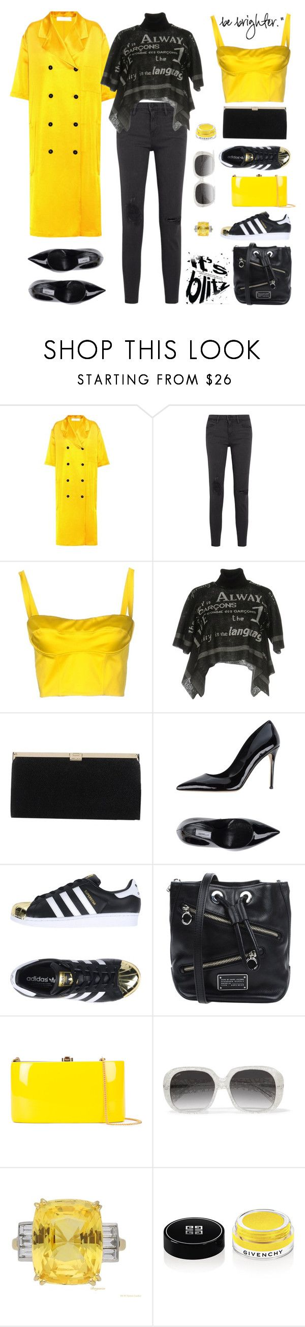 """Stand Out Girl"" by sue-mes ❤ liked on Polyvore featuring Victoria Beckham, Frame, Simona Corsellini, Comme des Garçons, Jimmy Choo, Semilla, adidas Originals, Marc by Marc Jacobs, Rocio and Loewe"