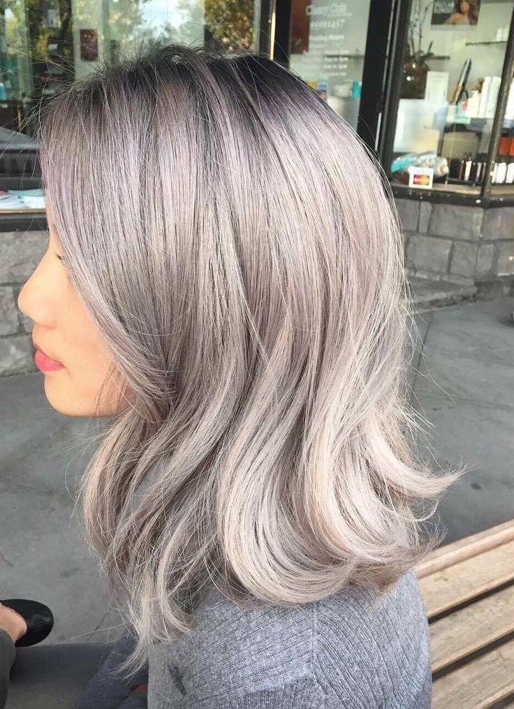 awesome Пепельный цвет волос (50 фото) - все оттенки и особенности искусственной седины