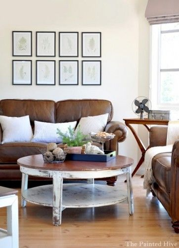 Decorating with Brown Couches - Ivory