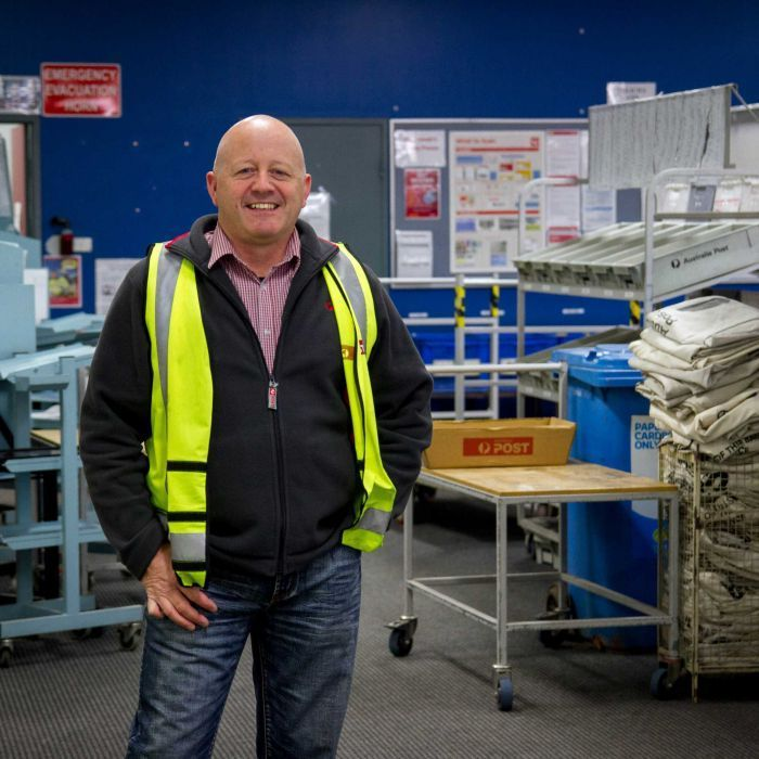 John Blake has worked for Australia Post for more than 20 years — he was once a postie and is now the manager at the Kalgoorlie delivery centre. Mr Blake has seen the transition from letters to parcels first hand, and with branded packaging, he said he could actually see buying trends in action.