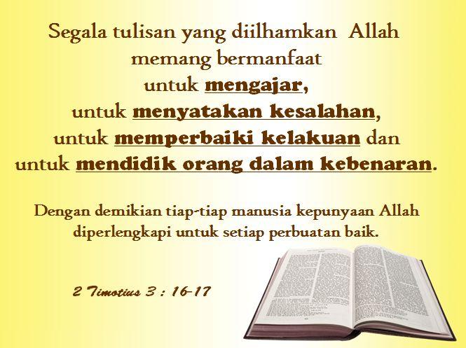 2 Timotius 3 : 16-17