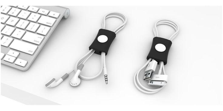 """Organizador de cables """"Snappi"""" de Gumbite para regalos de empresa"""