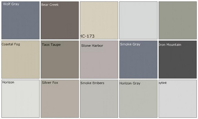 Gray paint: Designers' favorite colors