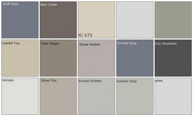 Grey paint colors | Paint Palettes | Pinterest
