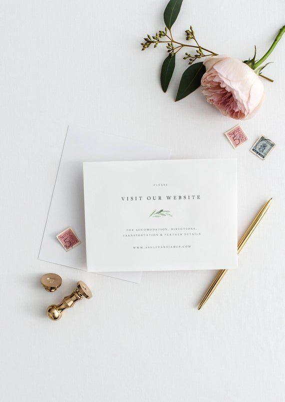 Wedding Website Insert Card Templates New Visit Our Website Template For Wedding Gree Envelope Addressing Template Wedding Response Cards Diy Envelope Template