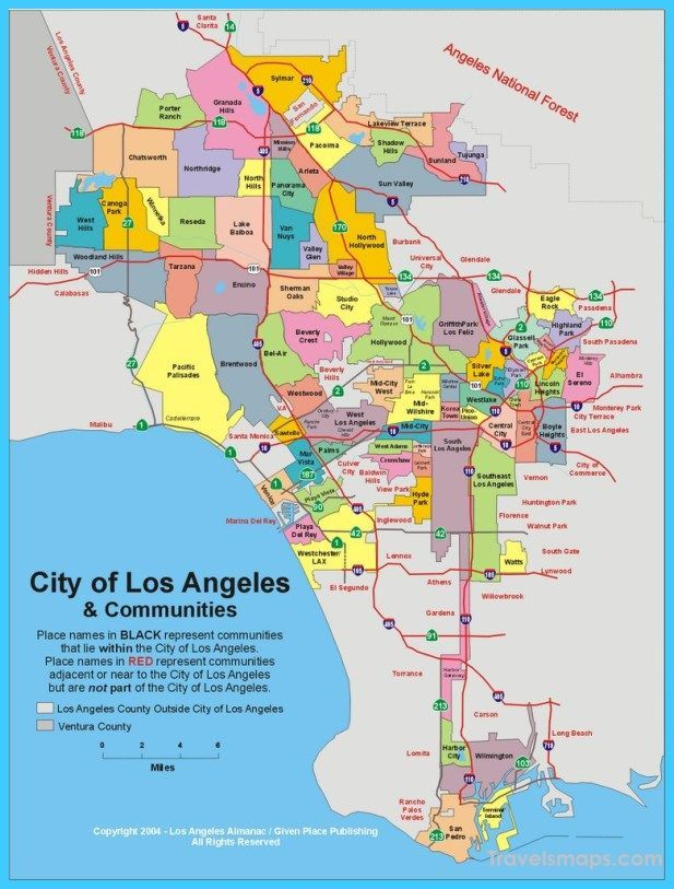 Cool Map Of Los Angeles Worktraveltips Los Angeles Map Los Angeles Travel Los Angeles