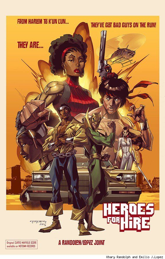 Heroes for Hire by Khary Randolph and Emilio J.Lopez  Read More: http://www.comicsalliance.com/2013/04/26/best-art-ever-this-week-04-26-13/#ixzz2Rha7DIRV