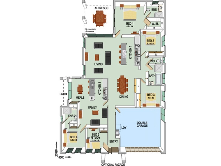 Attached granny flat floor plan granny flat ideas for House with attached granny flat plans