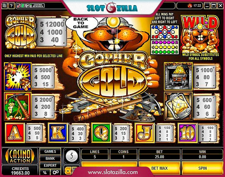 Gopher Gold free #slot_machine #game presented by www.Slotozilla.com - World's biggest source of #free_slots where you can play slots for fun, free of charge, instantly online (no download or registration required) . So, spin some reels at Slotozilla! Gopher Gold slots direct link: http://www.slotozilla.com/free-slots/gopher-gold