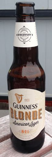 Guinness Blonde American Lager, Guinness Ltd., Ireland - bought in Pacifica, California