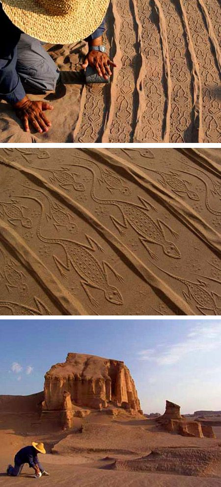 10 Amazing Sand Drawings - Oddee.com (sand drawings, amazing sand)