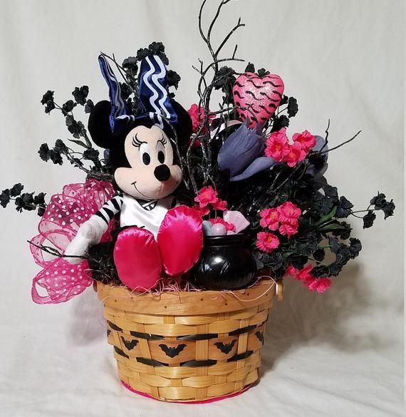 Minnie Mouse Halloween Centerpiece, Minnie Mouse Table Decoration, Disney Minnie Mouse Halloween Par