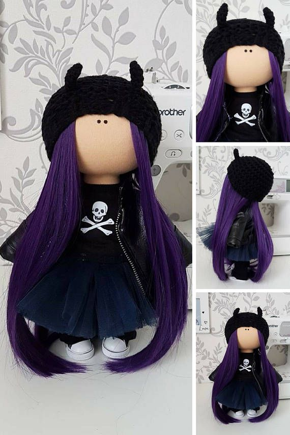 Handmade doll Demon doll Muñecas Black doll Bonita Nursery