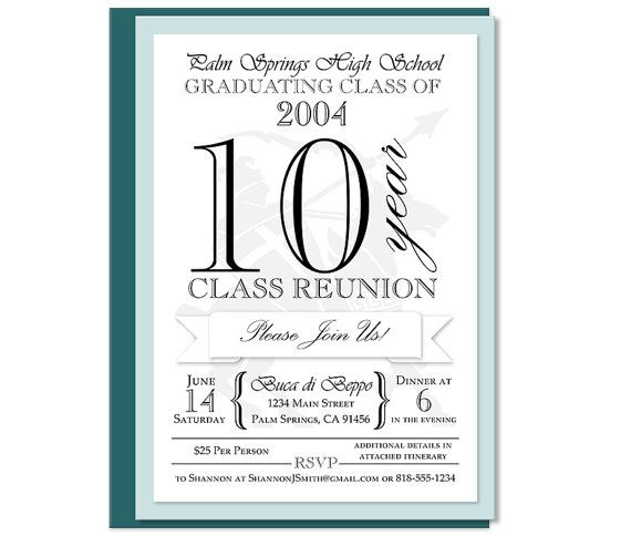 38 best images about Intalnire 10 ani on Pinterest - class reunion invitation template