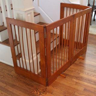 4 Panel Freestanding Tall Pet Gate | Overstock.com Shopping - The Best Deals on Pet Gates