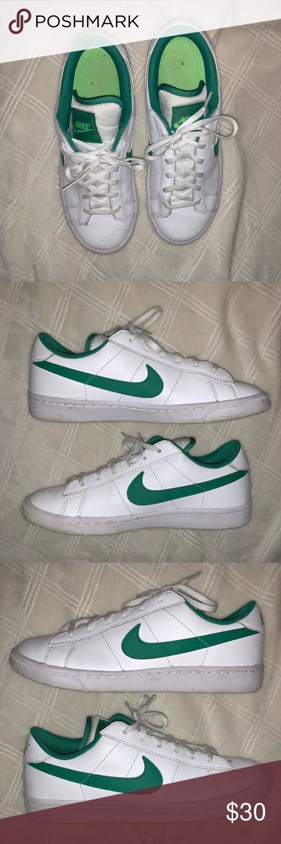Nike Kids Golf Golfing Shoes Sneakers Preowned Nike US Size 5Y. Worn for golfing two times only before they didn't fit anymore. Scuff marks on the white canvas parts of both Shoes, as shown in pictures.  Inside tag says 23.5 cm. Nike Shoes Sneakers