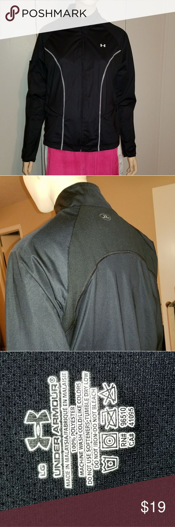 SALE EUC Under Armour Jacket Worn maybe twice. Has zippered front pockets, a pocket on the right sleeve, vented armpits, and an inner lining. Under Armour Jackets & Coats