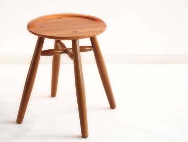 Sula Round Stool. Sula Round is made from solid mahoni wood with semi gloss finishing. Its diameter is 35 cm and height 45 cm.