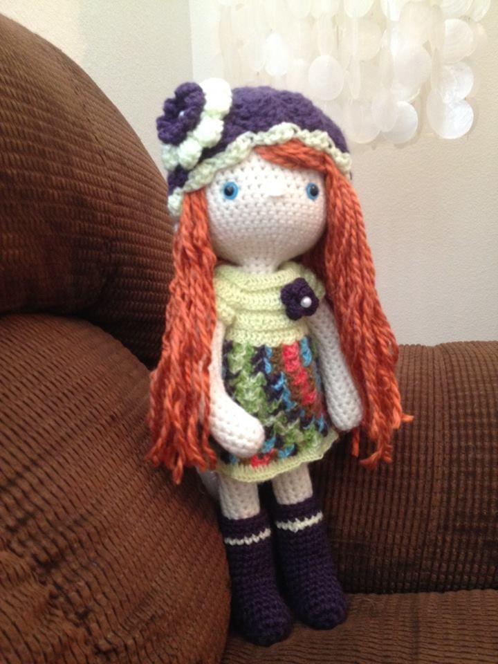 My Crochet Doll, Amigurumi Doll, Crochet Doll, Lettie - a friend's redheaded stepchild.☆