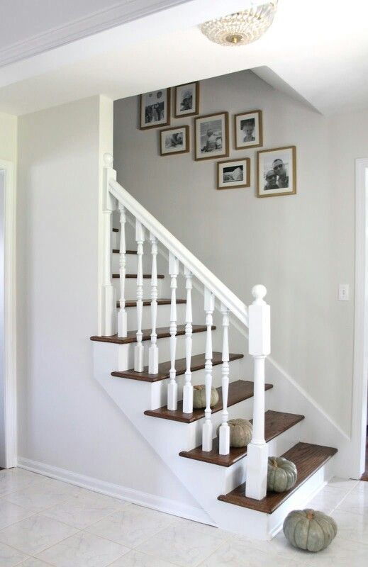 Staircase remodeling this is exactly how are stairs would look without the carpet