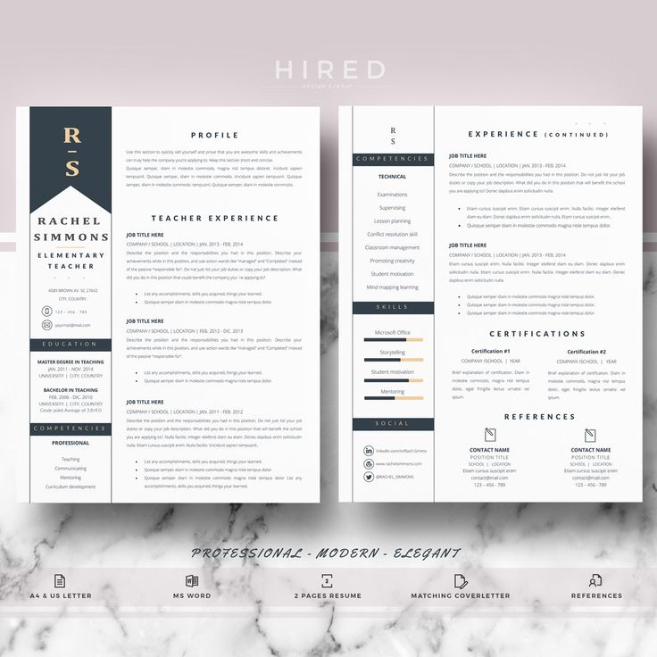 83 best Modern, Professional \ Elegant Resume Templates images on - mac pages resume templates