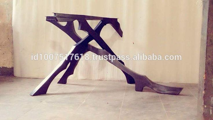 LIGHTNING BLACK IRON DINING TABLE LEG