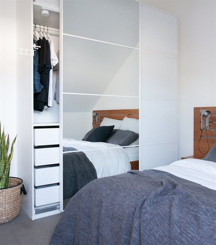 Fill your bedroom with double the light with mirrored PAX wardrobe doors | Great idea spotted in Matt's home in Sydney