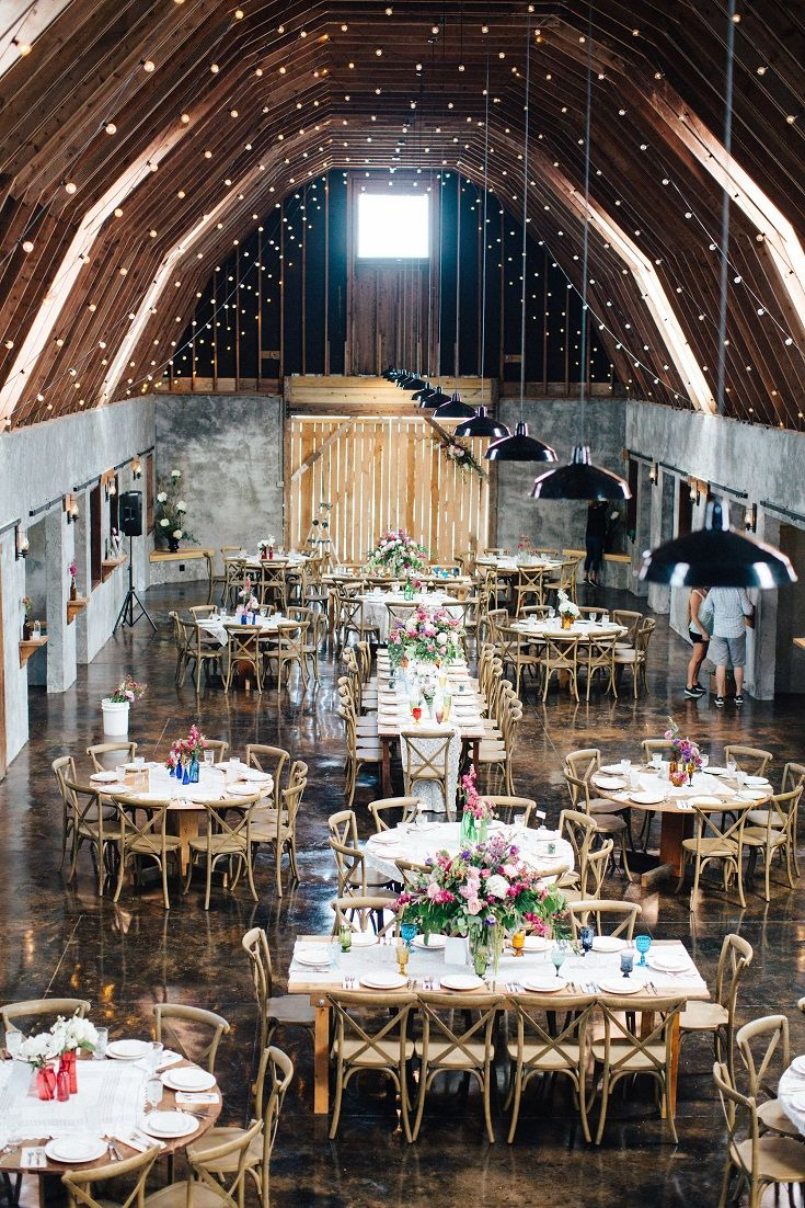Stunning wedding reception with huge vaulted ceiling