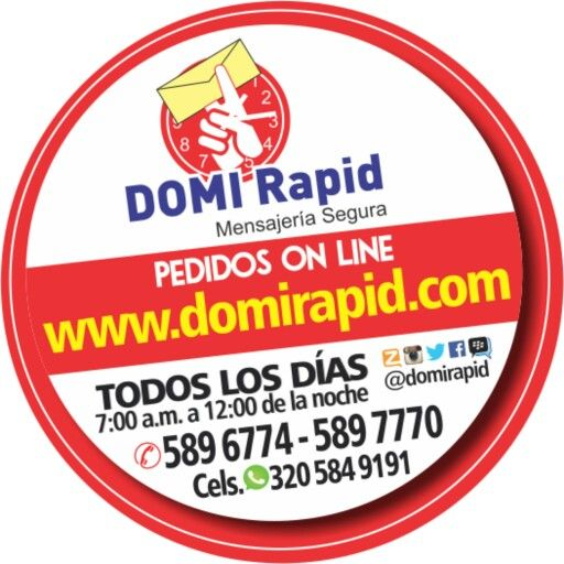 GRACIAS A NUESTROS CLIENTES por elegirnos Somos la #1 de Valledupar.  COMPRAS, PAGOS, CONSIGNACIONES y ENVIOS HORARIO: TODOS LOS DIAS 7AM - 12NOCHE  3205849191 (Whatsapp)  3173575070  3014948484  0355896774  0355897770 PIN. 7A1E7EAB PIN. 7B484FCD Zello: DOMI Rapid  Twitter:@domirapid  Instagram: @domirapid Facebook: Domirapid Mensajería Segura VALLEDUPAR PEDIDOS ON LINE  www.domirapid.com