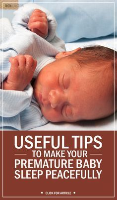 4 Useful Tips To Make Your Premature Baby Sleep Peacefully