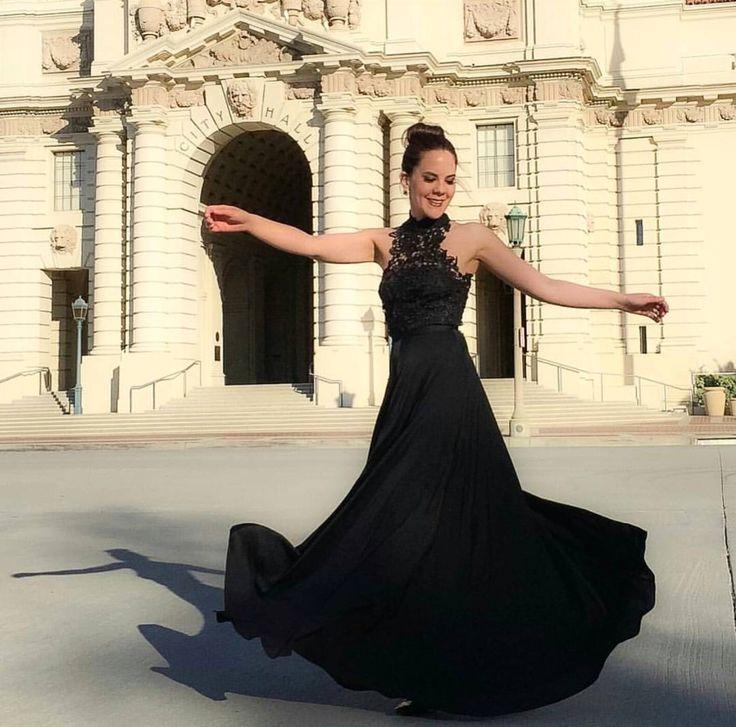 Beautiful black dress by Elle Zeitoune