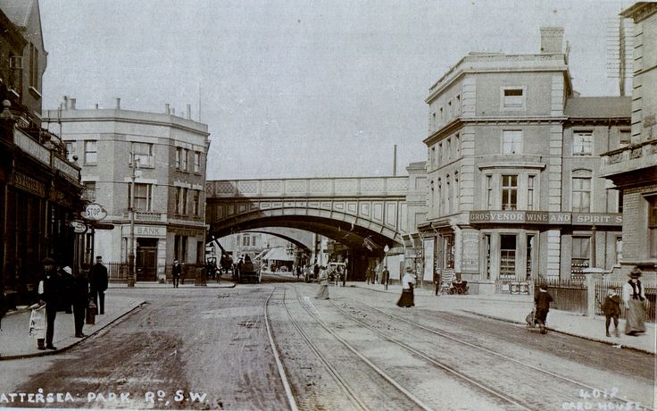 Old Photo of Battersea Park Road - London