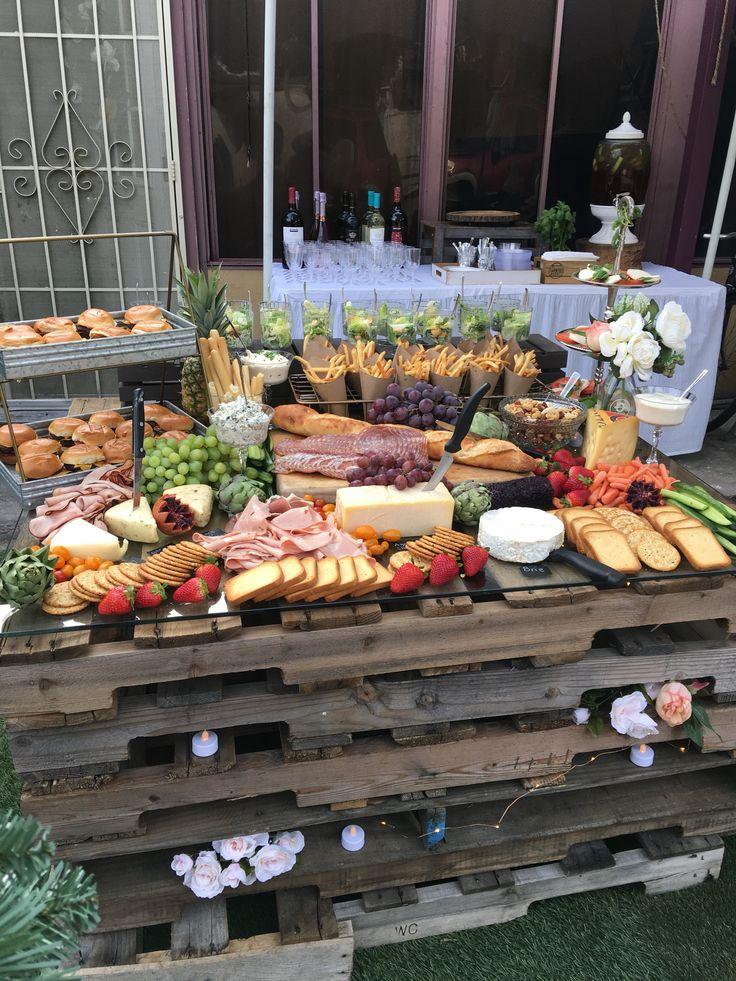 Grazing table  Jens DIY in 2019  Hochzeit Buffet Hochzeitsessen Buffet party
