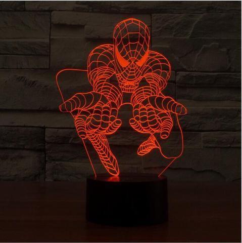 Spider Man  3D illusion night light