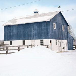 Blue barn house