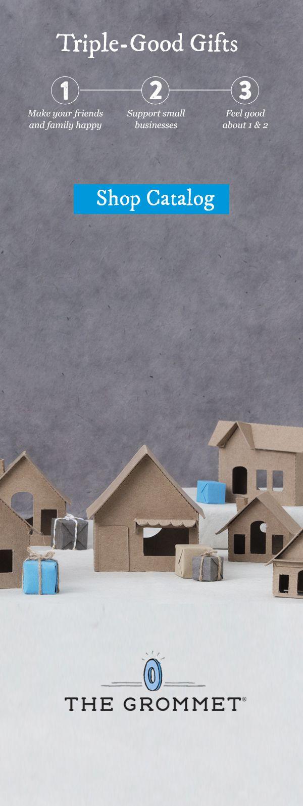 Paper/cardboard houses/village | for Christmastime: make Christmas village with gingerbread house, Santa's workshop, etc.