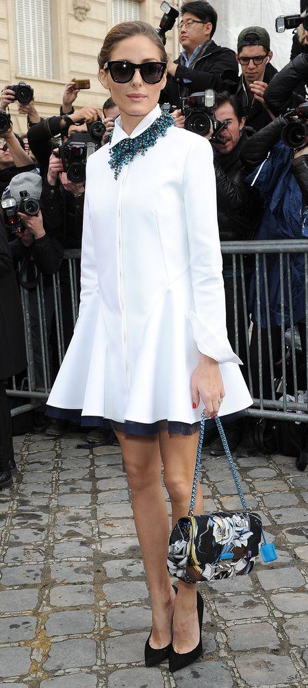 Olivia Palermo - White Shirt Dress