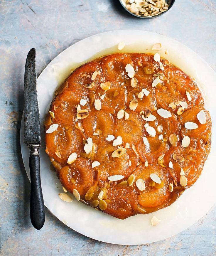 Caramelised apricots work wonders with this French tarte tatin recipe.