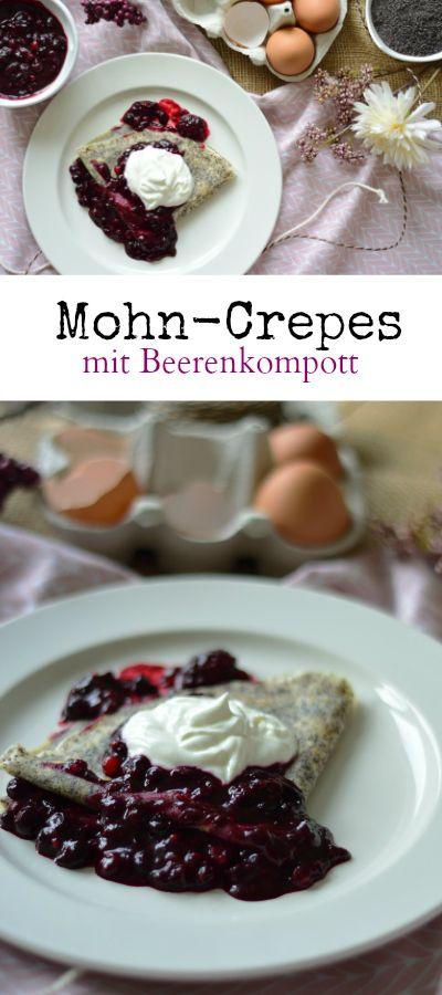 Mohn-Palatschinken mit Beerenkompott - ein schnelles Frühstück oder ein Dessert gefällig? Damit liegst du goldrichtig - COOKING BAKERY