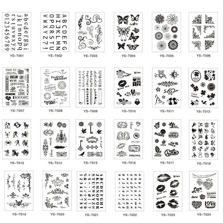 Alphabet Transparent Silicone Clear Rubber Stamp Sheet