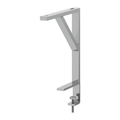 EKBY TÖRE Suporte de prateleira p/tampo - prateado - IKEA