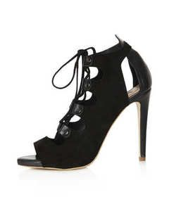 Topshop GALA Lace Up Cut Out Ghillies Shoes