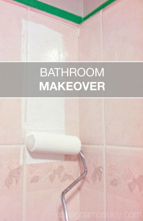 Bathroom Makeover Paint Tiles best 25+ paint bathroom tiles ideas on pinterest | painting