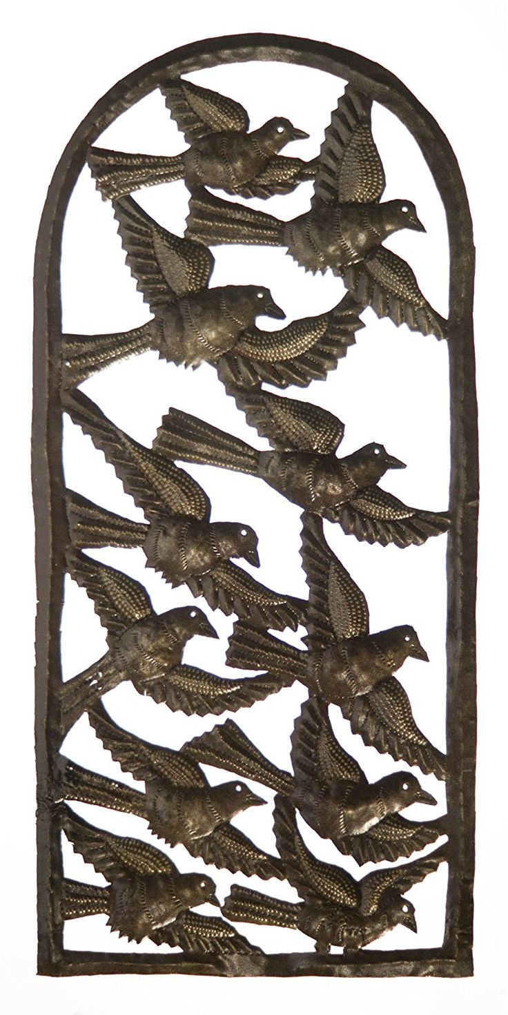 Le Primitif Galleries Haitian Recycled Steel Oil Drum Outdoor Decor, 11 by 23-Inch, Bird Window -- To view further for this item, visit the image link. (This is an affiliate link and I receive a commission for the sales)
