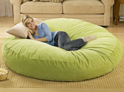 Giant beanbag chair lounger. Home Decor Pinterest