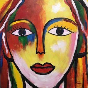 Målerikonst   Menina Facetime   95x95cm