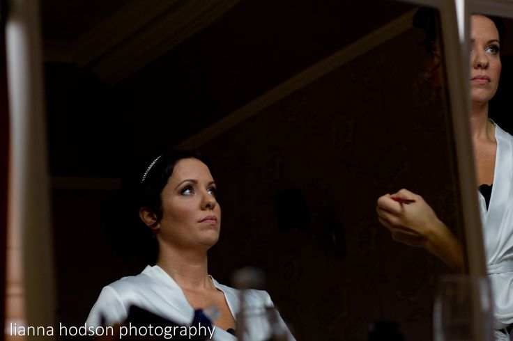 The bride getting ready. Reflections. Weddings. Ashfield House.