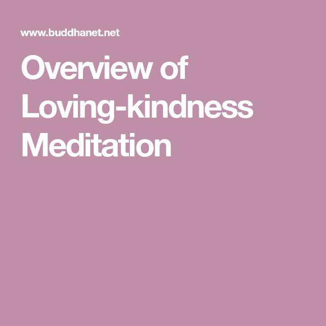 Overview of Loving-kindness Meditation