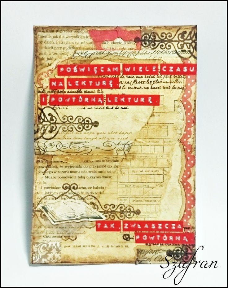 Szafranowe Twory: książkowy art journalowy sTworek :)