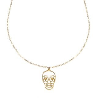Sugar and Skulls Necklace in Gold